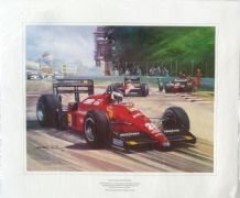 GERHARD BERGER Ferrari 1988 ITALIAN GP by MICHAEL TURNER